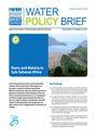 Dams and malaria in Sub-Saharan Africa (8/31/2010)