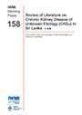 Review of literature on chronic kidney disease of unknown etiology (CKDu) in Sri Lanka (5/16/2014)
