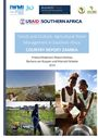 Trends and Outlook: Agricultural Water Management in southern Africa. Country report - Zambia. [Project report submitted to United States Agency for International Development's (USAID's) Feed the Future Program] (2/11/2016)