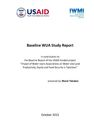 Baseline WUA Study Report. [Project report submitted to the United States Agency for International Development (USAID) under the project