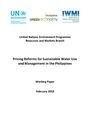 Pricing reforms for sustainable water use and management in the Philippines (3/28/2018)
