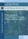 Africa agriculture transformation scorecard performance and lessons for Lesotho (7/31/2019)