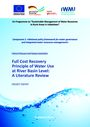 Full cost recovery principle of water use at river basin level: a literature review (12/30/2019)