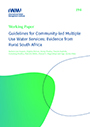 Guidelines for community-led multiple use water services: evidence from rural South Africa (12/7/2020)