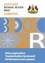 Africa Agriculture Transformation Scorecard: performance and lessons. Lesotho (5/31/2021)