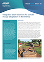 Integrated water solutions for climate change adaptation in West Africa (7/8/2021)
