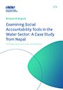 Examining social accountability tools in the water sector: a case study from Nepal (8/20/2021)